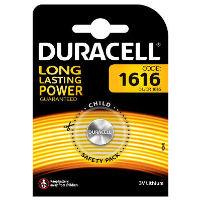 DURACELL LITIO PRIMARIO CR1616 3VOLT BLISTER 1 PILE - DURACELL LITIO BOTTONE CR1616 3VOLT